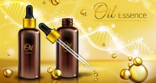 oil-essence-brown-glass-bottles-with-pipette-yellow-liquid-droplets-spots